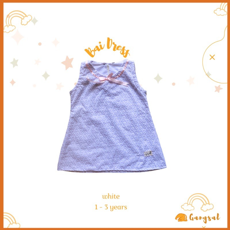 Gangsal alit – dress anak perempuan – dress anak 1-3 tahun – baju anak perempuan – baju anak semaran