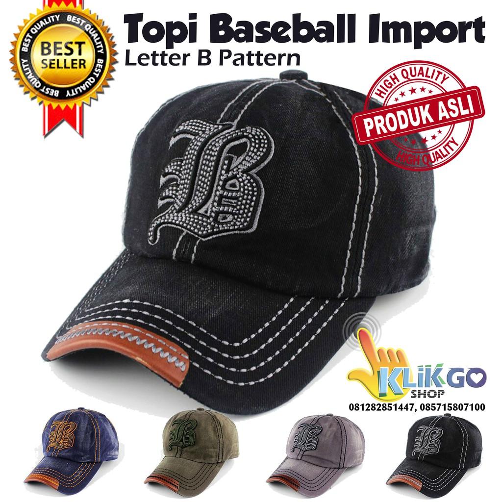 TOPI BASEBALL IMPORT LETTER B DESIGN   SNAPBACK   HIP HOP CAPS ... e36075924c