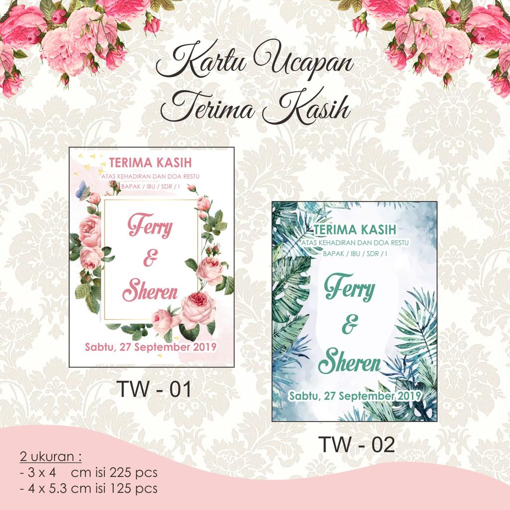Kartu Ucapan Terima Kasih Tq Card Tag Kupon Souvenir Thanks Card Shopee Indonesia