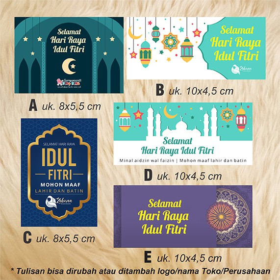 Stiker Label Ucapan Label Hadiah Parcel Hari Raya Idul Fitri Vol 1