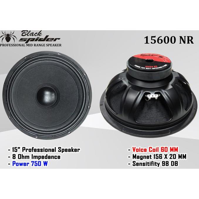 "Speaker 15 "" Baru Black Spider 15600 NR Original"