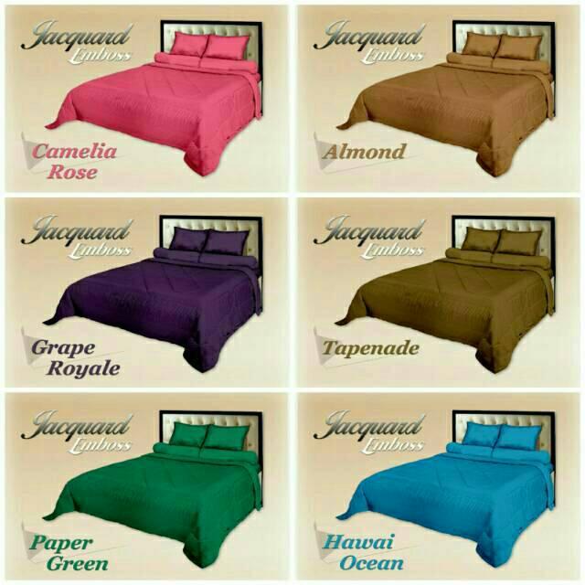 SPREI POLOS EMBOSS ROYAL JACQUARD / SPREI PREMIUM - Tersedia 20 Pilihan Warna | Shopee Indonesia