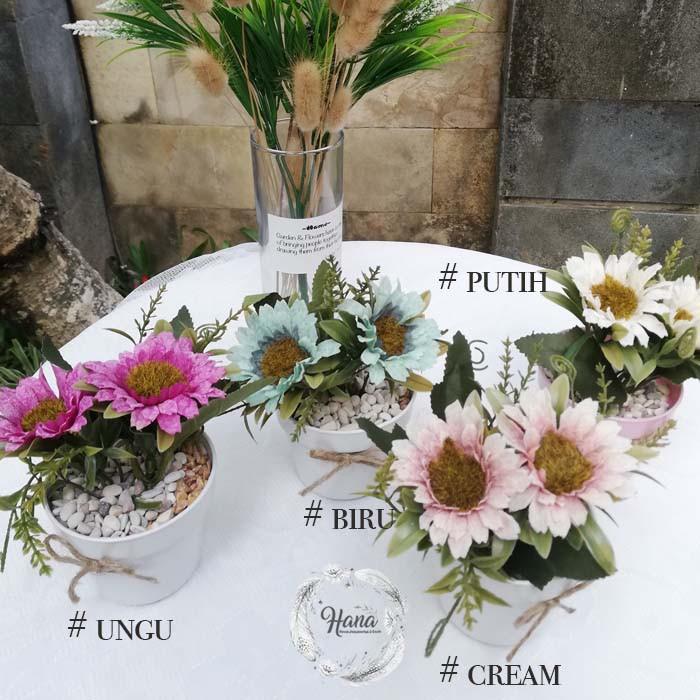 Bunga Matahari Artifisial Dengan Bunga Matahari Plastik Putih Shopee Indonesia