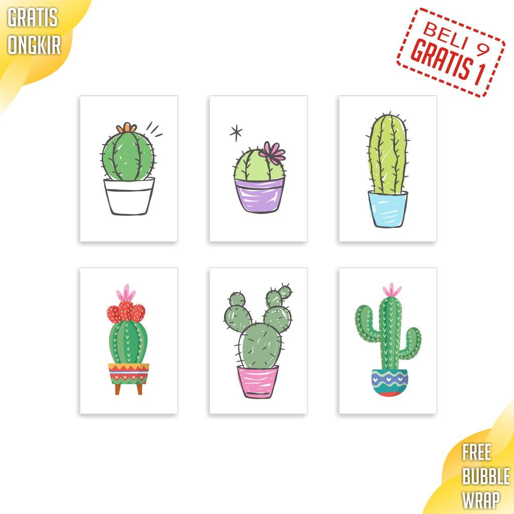 Hiasan Dinding Poster Aesthetic Scandinavian Poster Cactus Wall Decor Poster Kaktus Dinding Kamar Shopee Indonesia