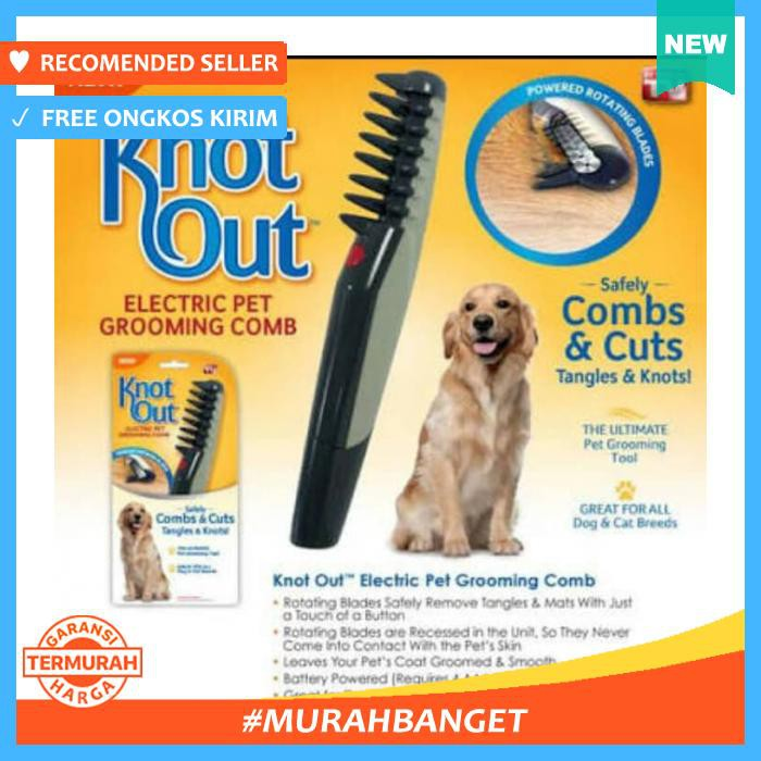 Alat Perawatan Rambut Hewan Peliharaan Pet Grooming Comb Knot Out   Sisir  Anjing  a0d1adee10