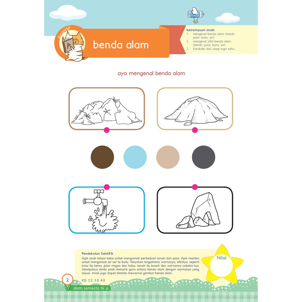 Buku Paud Tk Tematik K13 Kelompok A Tema Alam Semesta Shopee Indonesia
