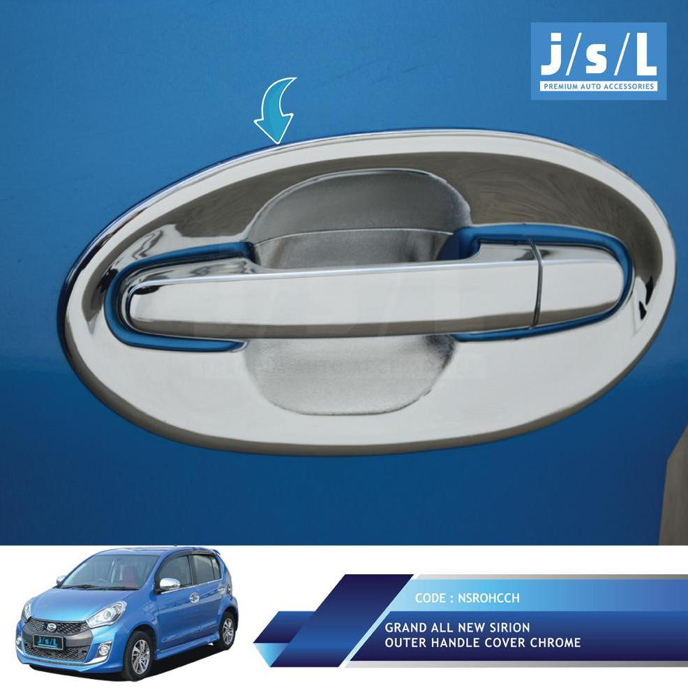 Grand All New Sirion Outer Handle Cover Chrome Jsl Croom Avanza Xenia Elegant Aksesoris Mobil Shopee Indonesia