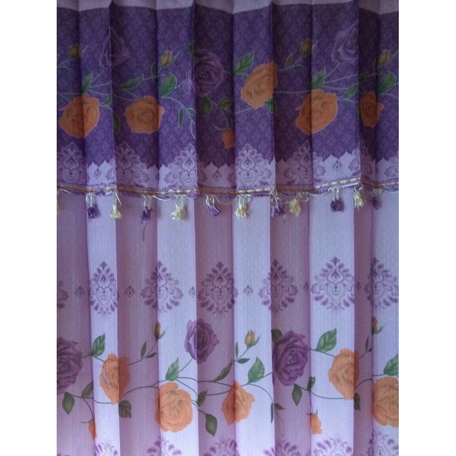 hordeng/gorden bahan vanessa aneka warna uk 200x200 cm Limited | Shopee Indonesia