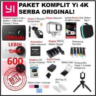 Paket Komplit Xiaomi Yi Versi 2 4K Serba Original