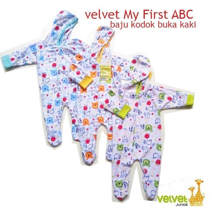 Velvet Jumper Bayi New Born Tutup Kaki Motif / Baju kodok Velvet | Shopee Indonesia
