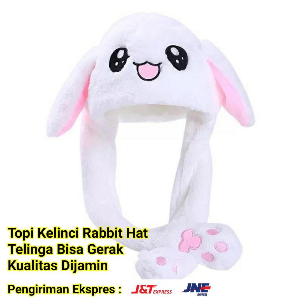 Topi Telinga Bergerak Kuping Bisa Gerak Kelinci Model Bunny Hat Dannce Korea Kpop Tiktok