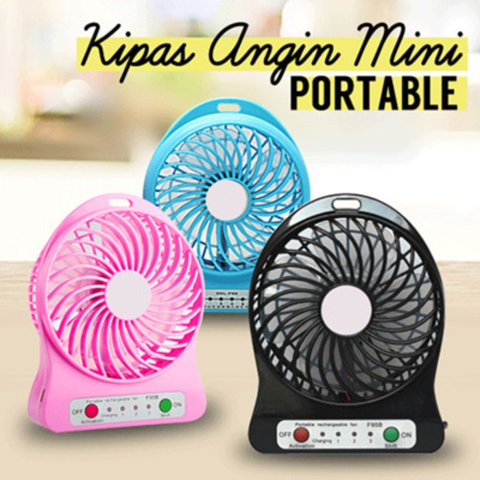 Kipas Angin Portable Charger. Portable Lithium Fan Charger | Shopee Indonesia
