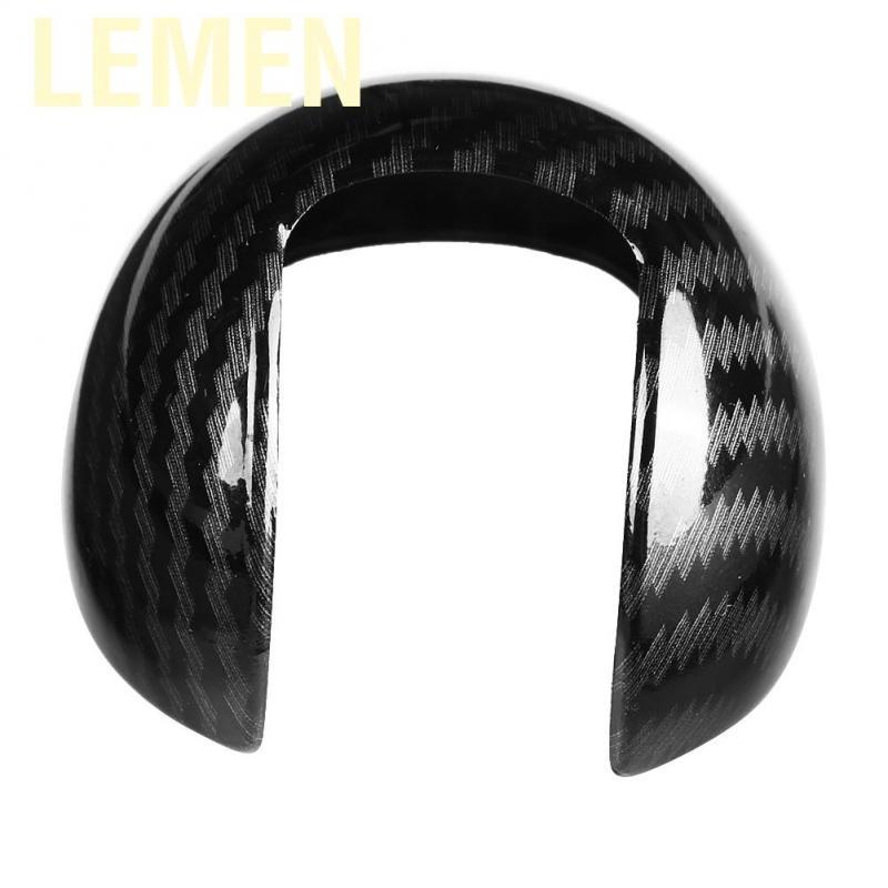 Carbon Fiber Style Car Gear Shift Knob Head Cover Cap Sticker Trim for Audi A3 8 V S3 14-18 Shift Knob cover