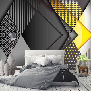 wallpaper custom 3d pola geometri 3d untuk dekorasi