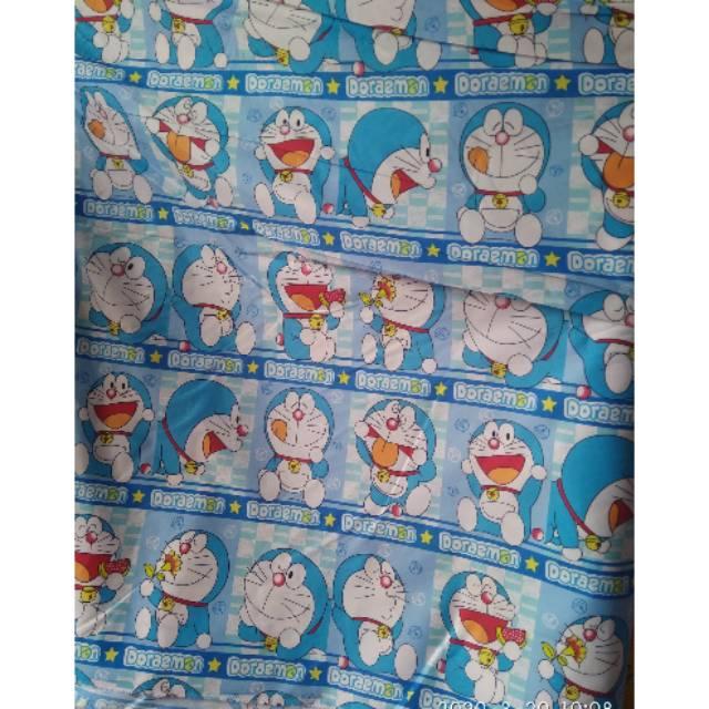 Jual Kain Katun Motif Anak Doraemon Mobil Harga Permeter