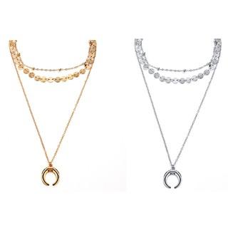 Kalung Rantai Panjang Liontin Bulan Sabit Warna Gold / Silver untuk Wanita | Shopee Indonesia