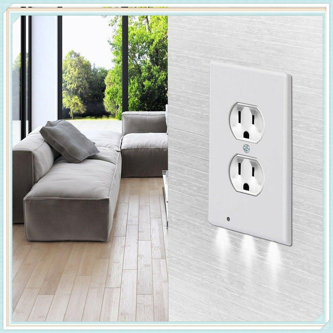 22 Outlet Cover Light Sensor Angel Outlet Wall Plate With Led Night Lights Shopee Indonesia
