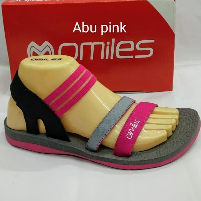 sepatu sandal wanita omiles vanessa grey pink.terbaru 59c4207edf