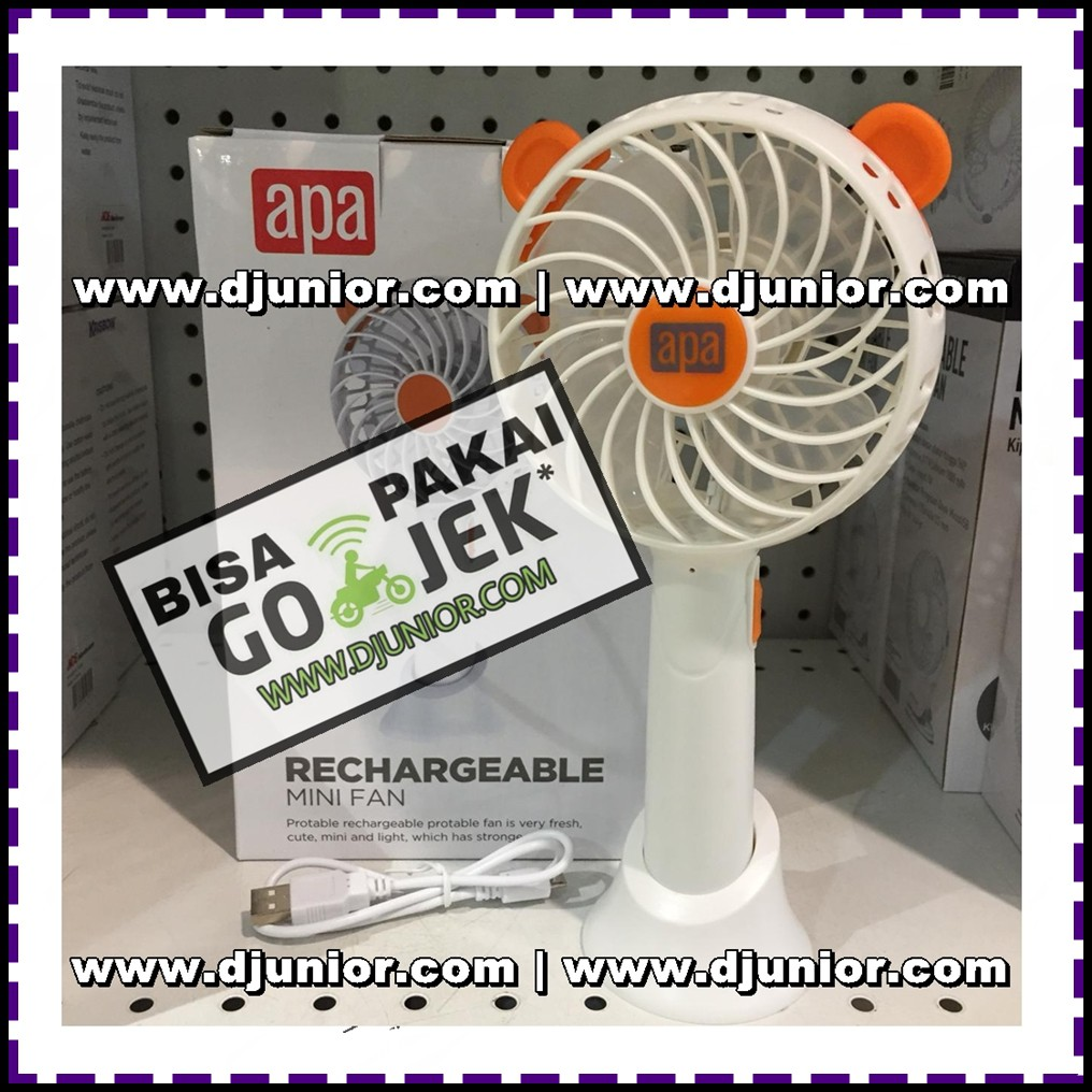 kipas angin tangan luby 691 kipas angin cas genggam mini fan portable charger | Shopee Indonesia