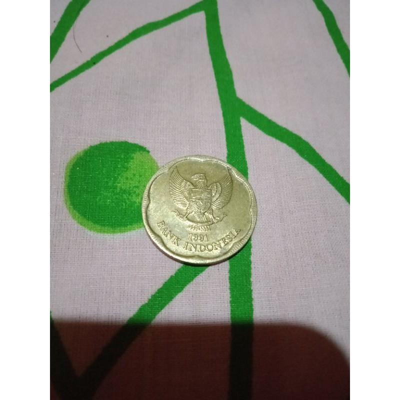 uang koin 500 melati 1991 asli