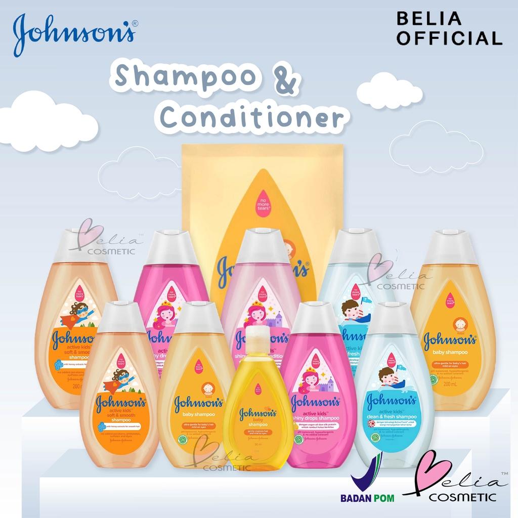 ❤ BELIA ❤ JOHNSON'S Baby Shampoo & Conditioner   Shampo Kondisioner Bayi   BPOM