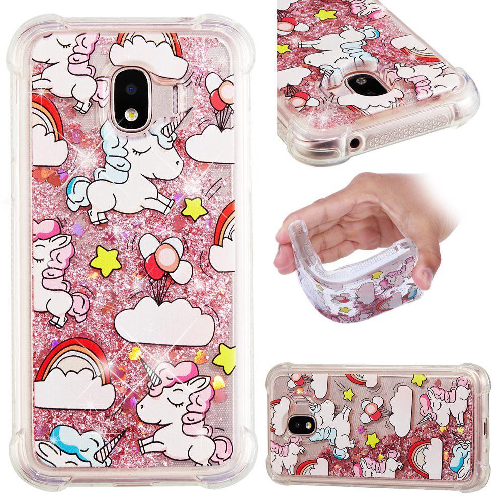 Casing Soft Case Glitter Quicksand Motif Unicorn Untuk Samsung Galaxy J2 Pro 2018 Shopee Indonesia