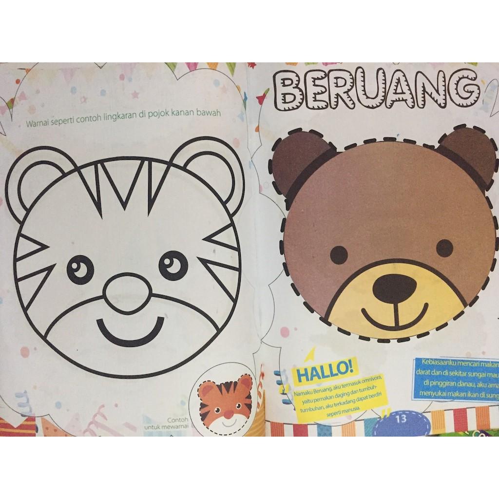 Buku Anak Seri Anak Kreatif Gunting Tempel & Mewarnai SDO