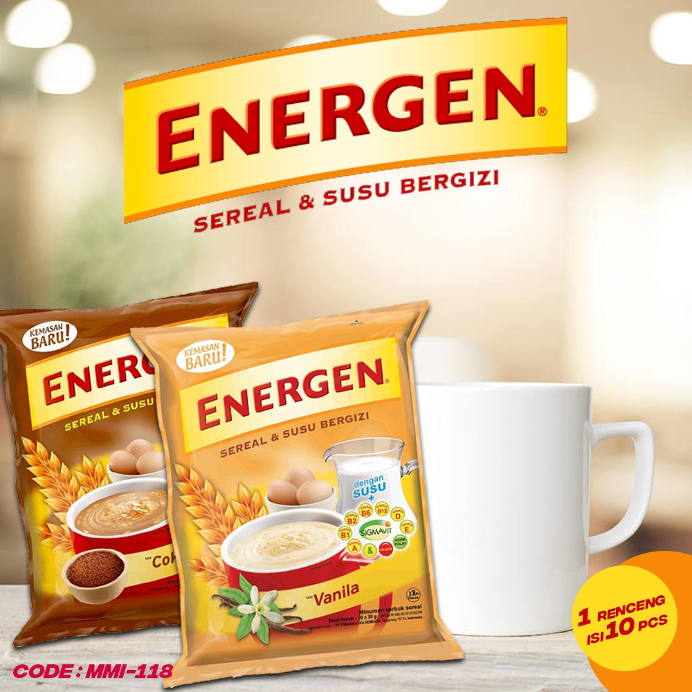 Energen Sereal 29 Gr Isi 10 Sachet Per Renceng Mmi 118 Shopee