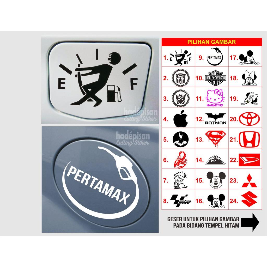 Stiker Mobil Cutting Sticker Tutup Tangki Bensin Mobil