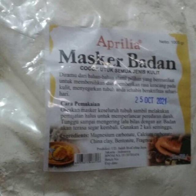 Masker badan body mask aprilia 1kg .