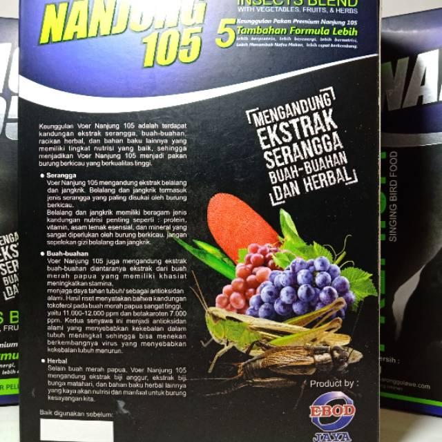 Nanjung 105 Premium Pakan Burung Premium Lomba Dan Harian Ebod Jaya Dengan Ptotein Tinggi Shopee Indonesia