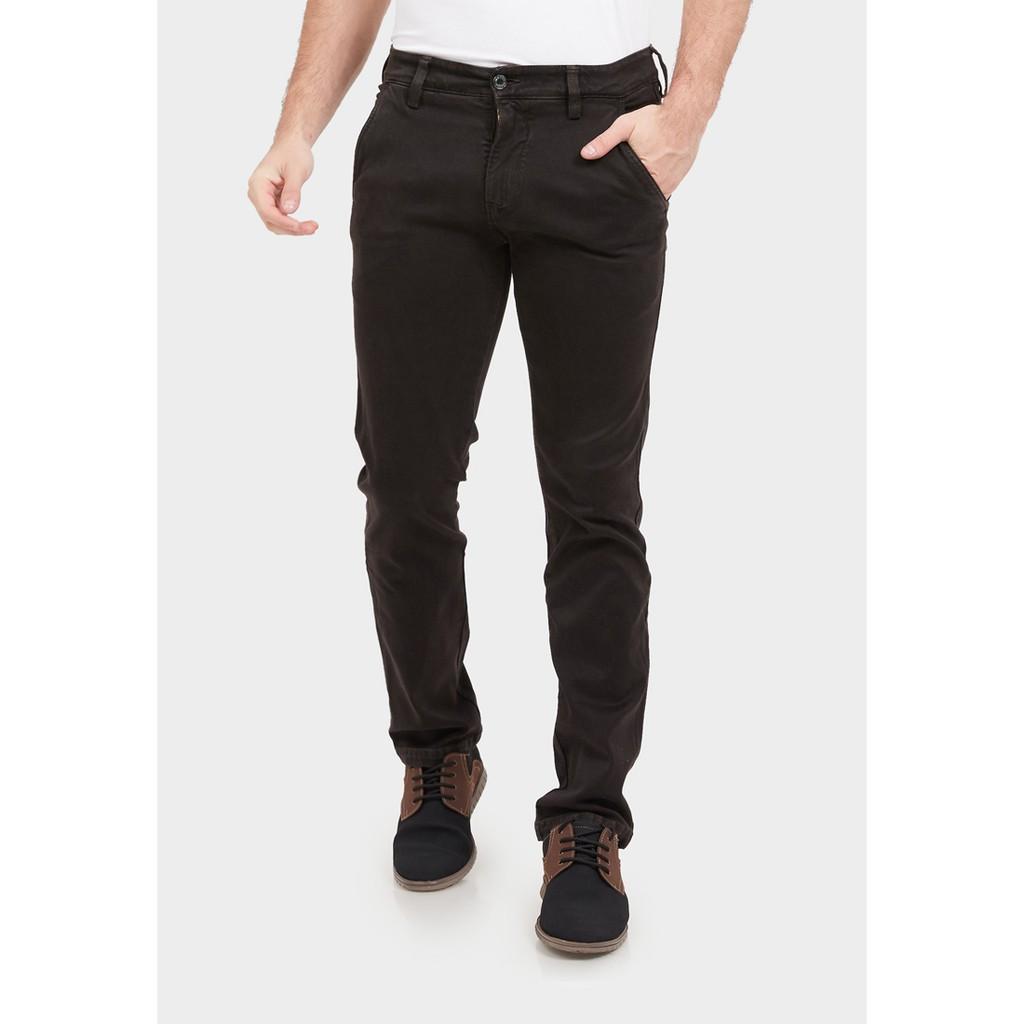 JBBoss Celana Panjang Jeans Polyring Stretch Side Pocket (Dark Brown)