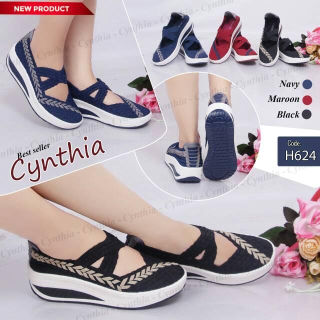 Sepatu rajut anyaman wanita Cynthia .