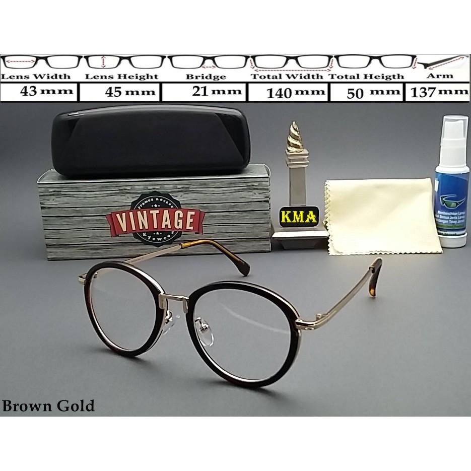 FRS16634 Kacamata minus Frame kacamata korea classic kacamata vintage bulat   e253dd60c4