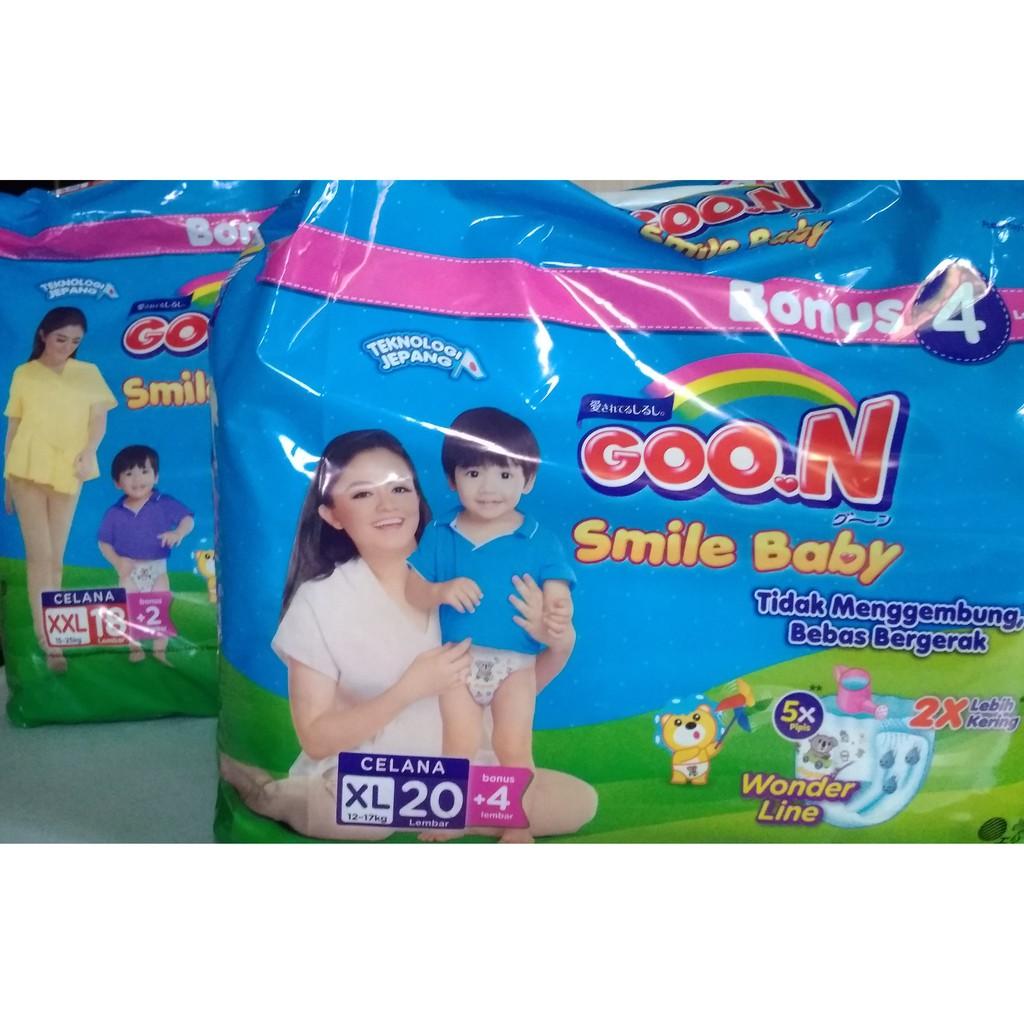 Goon Smile L Baby Pants 10 Pcs Shopee Indonesia Xl44 Bonus 4pcs