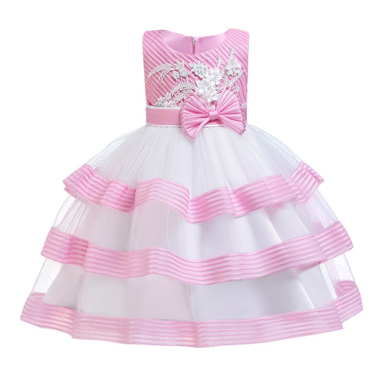 Girl Dress Birthday Kids Dresses Girls Ball Gown Party Wedding Clothing Flower Princess Dress 3 10 Y Shopee Indonesia
