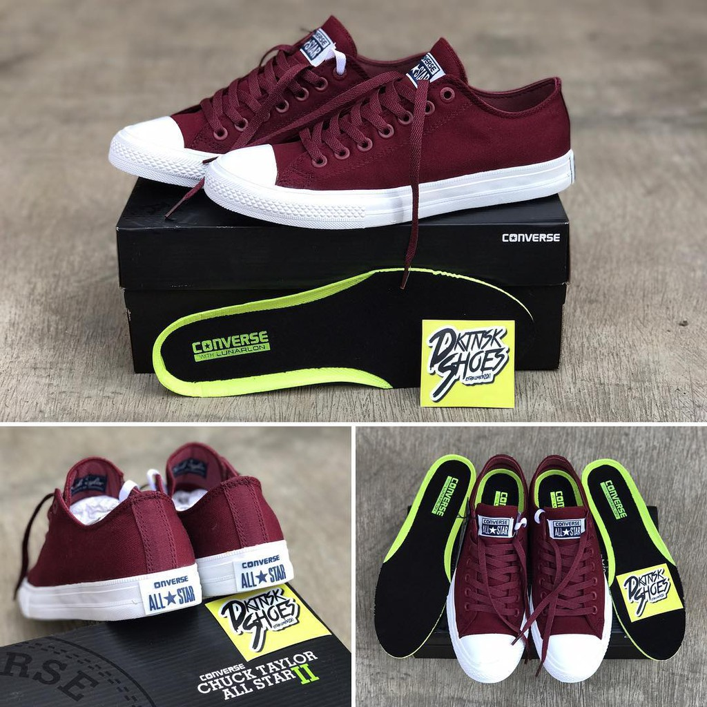 6b6df4178577 Sepatu Converse ct2 Port Royale Chuck Taylor Maroon All Star Low Pendek