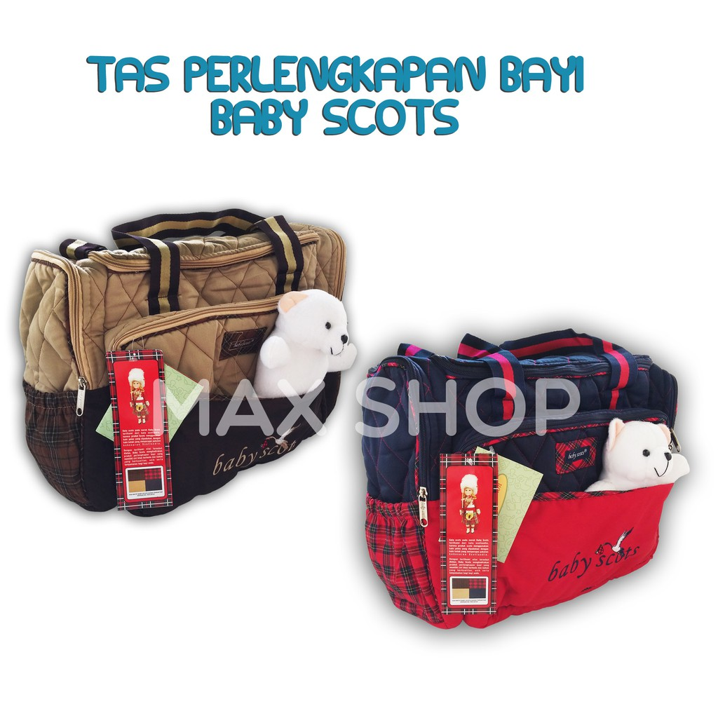 246cf28b9b123a Tas Bayi Baby Scots Embroidery Diaper Bag | Shopee Indonesia