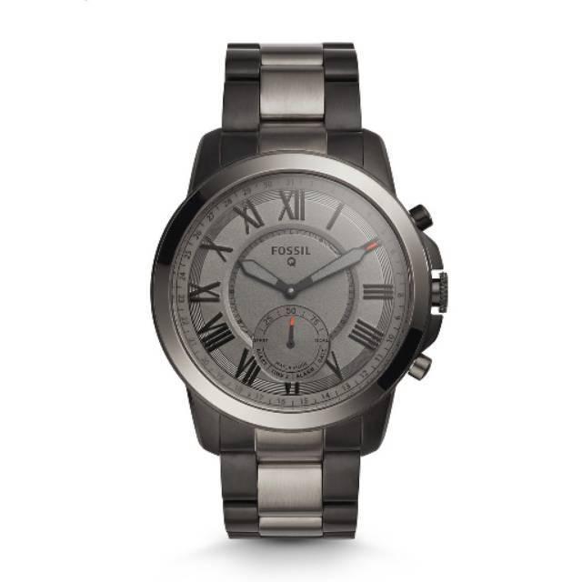 Fossil Q FTW1139 Hybrid Smartwatch Smoke Stainless Steel - Smartwatch Analog Pria Original