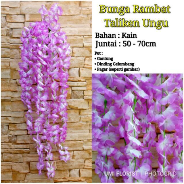 WISTERIA ARTIFICIAL (Per Lusin)   Westeria Juntai   Bunga Rambat Dekorasi  157a458bb7
