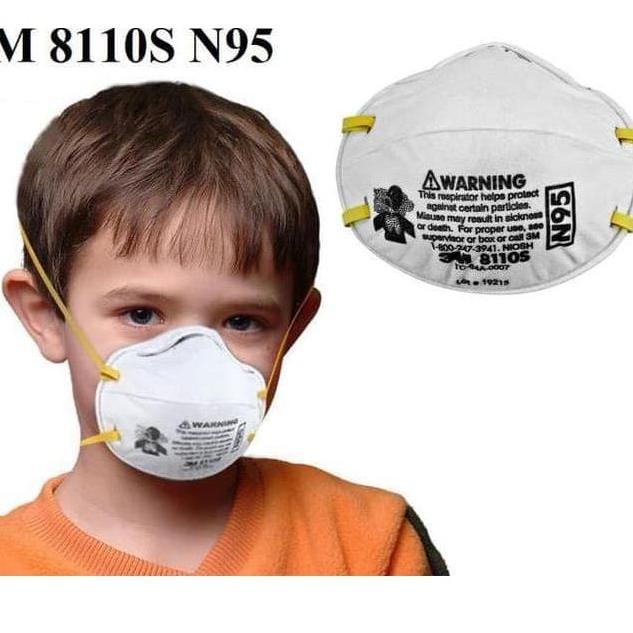 1 Respirator 3m - 1pkv Codv 8110s Particulate N95 Tr41™ Anak 8210 Untuk Masker Pcs
