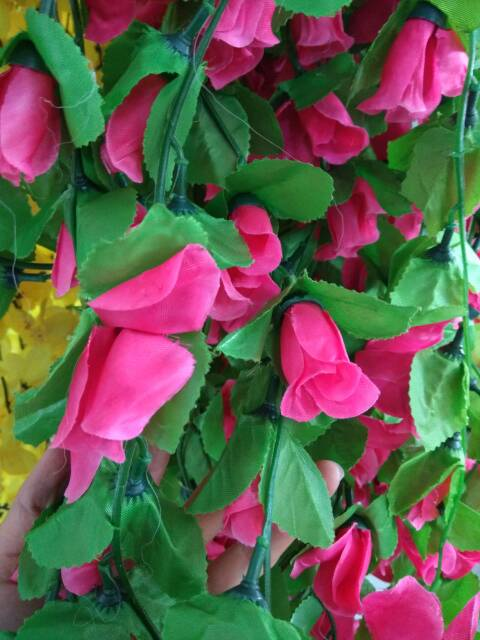BUNGA MAWAR RAMBAT / Bunga Artificial / tanaman artificial / tanaman rambat / shabby chic
