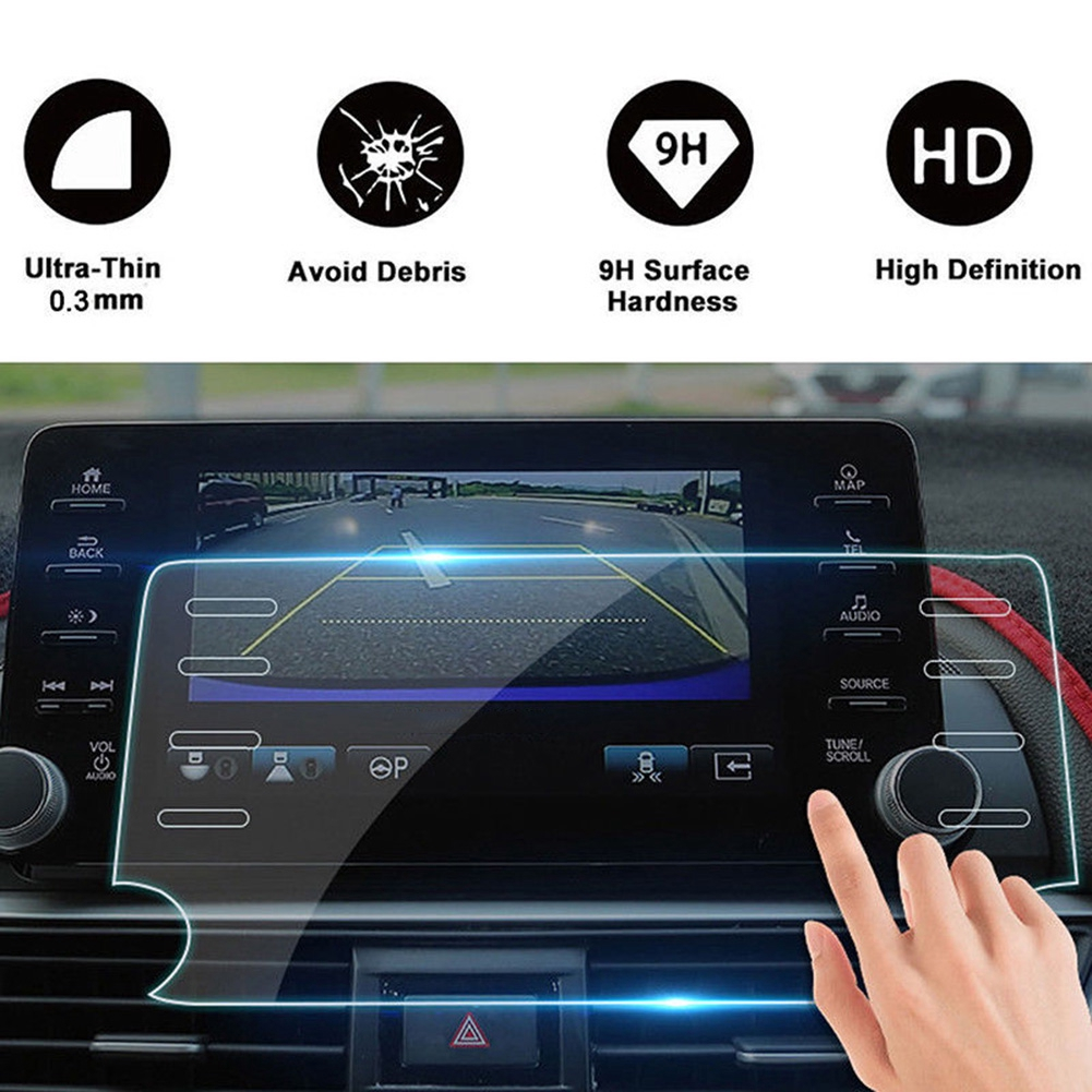 Car Navigation Tempered Glass Screen Protector For Honda Accord 2018 2019 8Inch