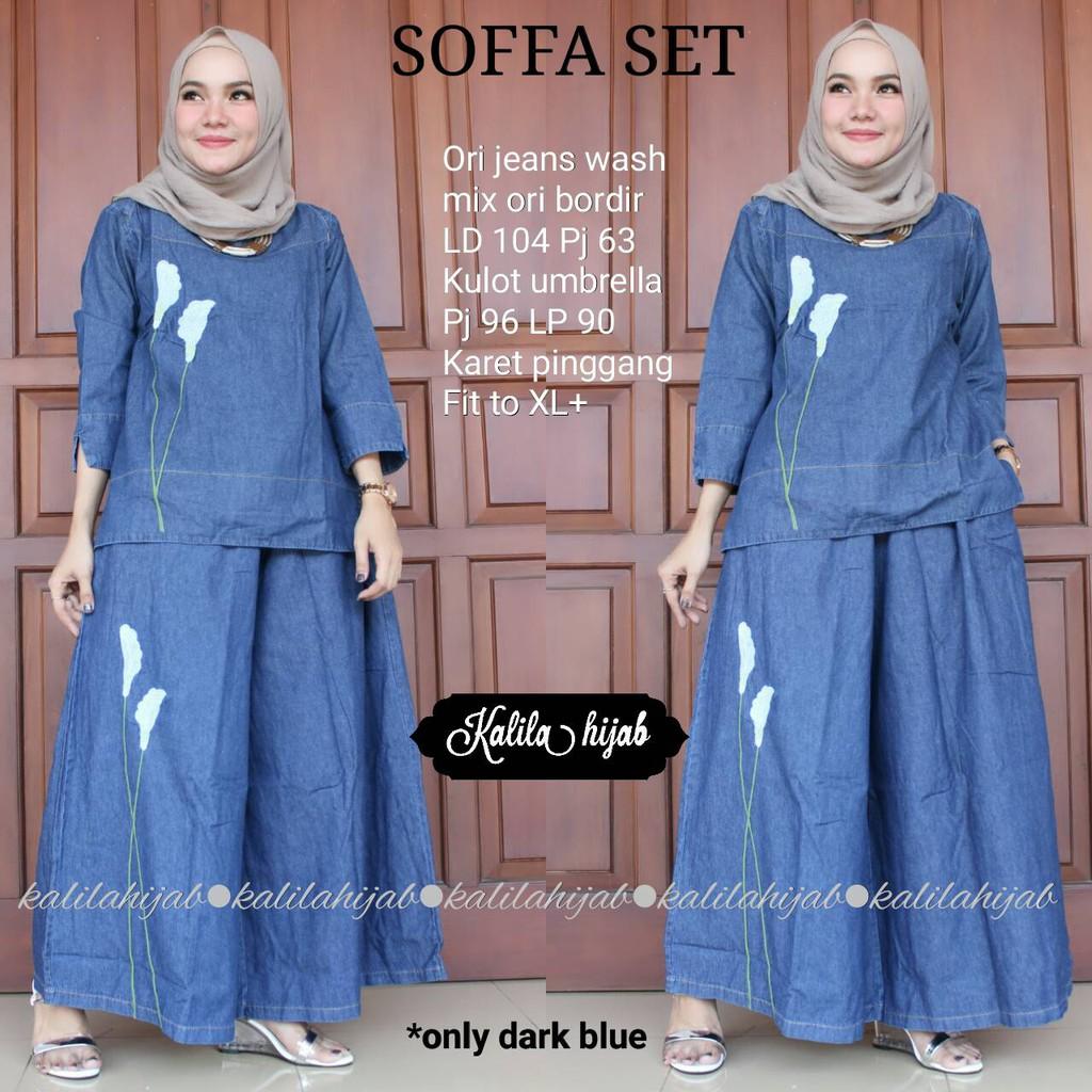 Ekslusive Gamis Syari Hamida New Baju Muslim Diorpeach Rok Jeans 7 8 Drakblue Jsk5012 Allsize Zipper Busui By Ori Nawa Shopee Indonesia