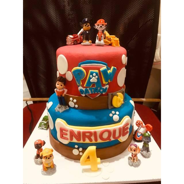 Paw Patrol Birthday Cake Harga Fondant Belum Termasuk Mainan Shopee Indonesia