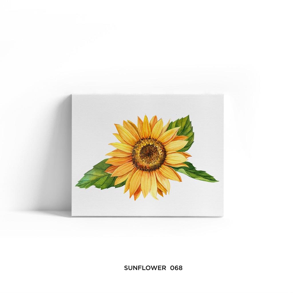 Lukisan Dekorasi Sunflower Poster Kanvas Hiasan Dinding Bunga Matahari 20x25cm Shopee Indonesia