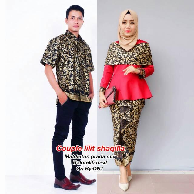 Couple Kebaya Batik Modern Terbaru Modis Murah Kekinian Brokat Silky Sutera  Medan Jakarta Bandung  ef96f0e3f2