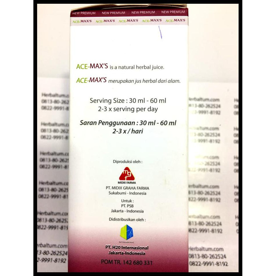 Diskon Promo Grosir Ace Maxs Asli Per Karton Isi 6 Max Acemax Original Acemaxs Murah Shopee Indonesia