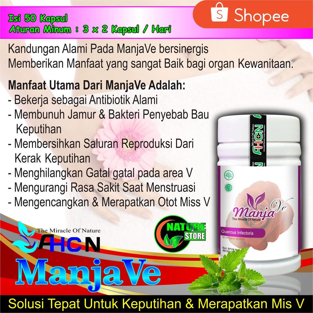 Obat Keputihan Merapatkan Organ Kewanitaan Manjave Manjavi Manja Ve Manja Vi Ahcn 100 Alami Shopee Indonesia