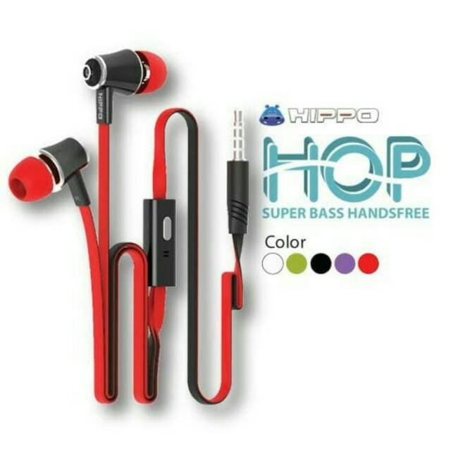 Headset Hippo Hop Original Handsfree Hop Hip Bass Original Hippo | Shopee Indonesia